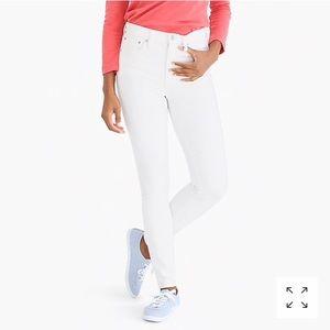 "Jcrew 10"" highest rise white skinny jeans stretch"